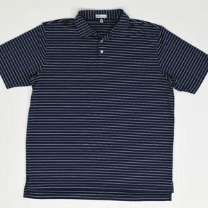 Peter Millar Big & Tall XXL Blue   Polo Polyester